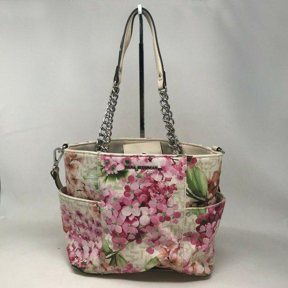 Dana Buchman Womens Multicolor Tote Handbag